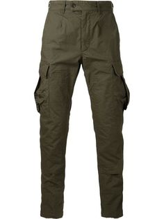 ENGINEERED GARMENTS* Cargo Cotton Trousers, Olive