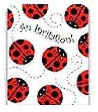 Ladybug Party Supplies Invitations by Party Zones Inc. $3.49. Ladybug Party Supplies Invitations. Package of 8 Ladybug invitations and envelopes.