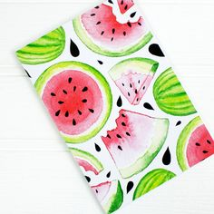 Watermelon illustrated notebook jotter organiser by AlexiaClaire