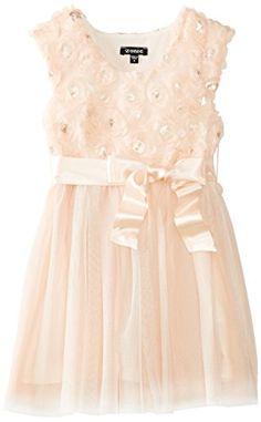 5815091e41 ZUNIE Girls 2-6X Cap Sleeve Sequin Soutache Dress