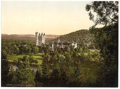 Balmoral Castle, Scotland - Picture produced by using the Photochrom system - 1890s