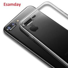 6ec6669d26c Esamday Clear Silicon Ultra Thin Soft TPU Case For 7 7Plus 8 8Plus X  Transparent Phone Case For iPhone 5 5s SE 6 6s 6Plus 6sPlus
