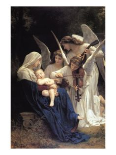 William Bougeureau, (1825 – 1905), Song of the Angels