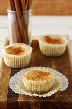 Snickerdoodle Cheesecake Cupcakes | www.chocolatemoosey.com