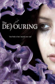 The Devouring by Simon Holt - The existence of Vours, supernatural creatures who feast on fear and attack on the eve of the winter solstice, becomes a terrifying reality for fifteen-year-old Reggie when she begins to suspect that her timid younger brother might be one of their victims.