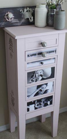 Vintage Jewelry Box Dresser/Chest - Restored/Refinished - Marilyn Monroe, Audrey Hepburn, Elizabeth Taylor Custom Drawers and Painting https://www.etsy.com/shop/ReFabHomeFurnishing