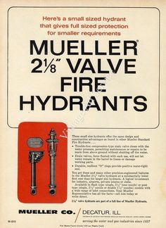 1971-mueller-small-sized-fire-hydrants-decatur-il-original-magazine-ad-b96099332bcf6873a31a3b4d85f15198.jpg (735×1012)
