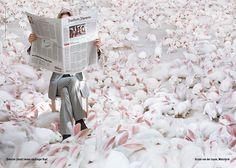 Ministerin von der Leyen als kluger Kopf in einem Mehrgenerationenhaus für Kaninchen. © Frankfurter Allgemeine Zeitung (FAZ) http://www.faz.net