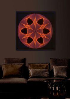 Wall Art Awesome String Art Mandala Cinnomon by FeniksArtDeco