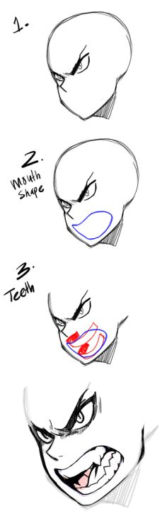 drawing teeth/mouths lol