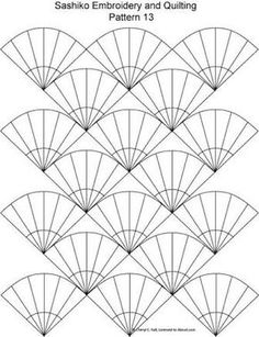Japanese Embroidery Designs FREE Sashiko Embroidery Patterns - Set 2 - This form of embroidery uses straight or curved geometric designs stitched in a repeating pattern. Find free patterns here. Shashiko Embroidery, Crewel Embroidery, Ribbon Embroidery, Cross Stitch Embroidery, Machine Embroidery, Embroidery Books, Geometric Embroidery, Modern Embroidery, Embroidery Tattoo
