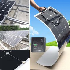 100W/200W/300W/400W/500W/1KW Semi Flexible Mono Ultra Thin Solar Panel Charger | Home & Garden, Home Improvement, Electrical & Solar | eBay!