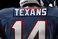 Nameplate view of the new NIKE Houston Texans jersey.
