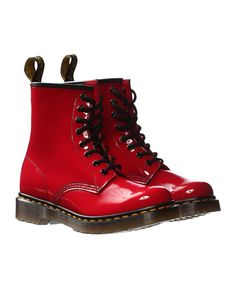 Dr Martens - Red Patent 1460 8-Eye Boot - Red