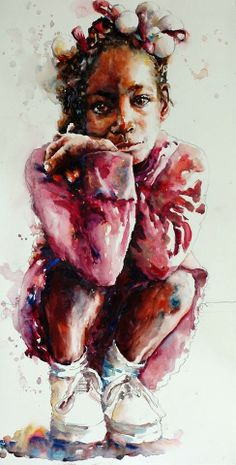 Watercolor by American artist by Bev Jozwiak. #ArtisticSerendipity Paintings and other art I love
