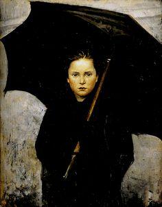 Marie Bashkirtseff, Umbrella, 1883  Oil on canvas