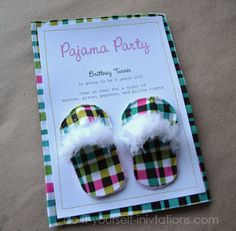 I am SO doing this for one of Syd's bday parties!!! Pajama party invite