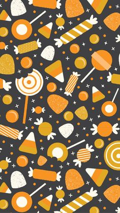 Halloween Candy Pattern - Three Cheers + Co
