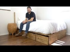 DIY Modern Platform Bed With Storage | Modern Builds | EP. 57 | How-To - YouTube -- I really like that the base of this bed is made with inexpensive wood and not a lot of tools, but it is very balanced and has clean lines.