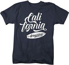 Shirts By Sarah Men's California Dreaming T-Shirt Surfer Shirts Cali Tee