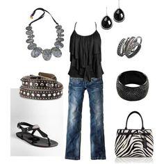 Black and zebra