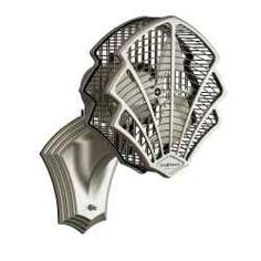 Modern Art Deco Wall-Mounted Oscillating Fan.  Finding ways to reduce energy use can be as easy as installing a Wall Mount Oscillating Fan in rooms you would like to circulate your heating...