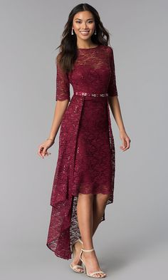 Shop Simply Dresses for long formal dresses like Short formal dresses, prom dresses, cocktail party dresses, evening gowns, casual and career dresses. Lace Party Dresses, Sexy Dresses, Short Dresses, Fashion Dresses, Dresses With Sleeves, Formal Dresses, Formal Prom, Lace Dress Styles, Homecoming Dresses