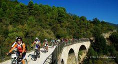 Spoleto Norcia mtb mountain bike sport escursioni Umbria Sul viadotto Tassinare