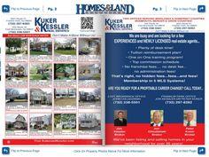 Our Volume 6 Issue 9 Inside Cover advertiser, Kuker & Kessler Real Estate! Perth Amboy, Mercer County, Find Homes For Sale, Advertising, Real Estate, Cover, Real Estates