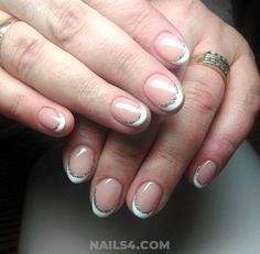 Are you ready for a collection that's full of cool, awesome and beautiful french nail art designs? This article has many designs you need to stay on with . Acrylic Nail Art, 3d Nail Art, 3d Nails, Art 3d, French Nail Designs, Gel Nail Designs, Christmas Nail Designs, Christmas Nails, French Nails