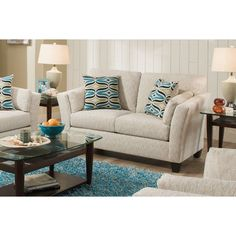 Chelsea Home Furniture Tully Loveseat River Run Natural - 187302-3821-L-RRN