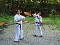 Karate Kyokushin Sibiu - Antrenament Bo in parc