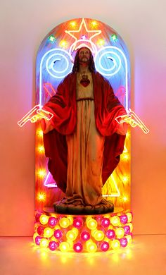 See more works from Chris Braceys http://iloboyou.com/chris-braceys-the-neon-light-guru/