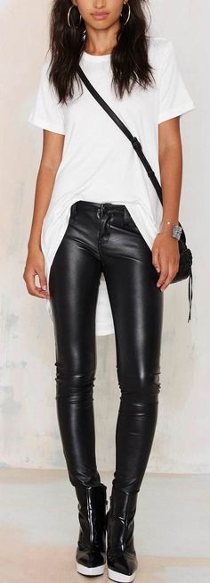 Be the baddest babe in these leather pants .