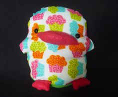 Plush Duck Cupcake Fabric Stuffed Animal. $4.60, via Etsy.