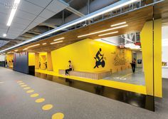 Gensler San Jose's Fitness Center for Symantec | The Mountain View, California, campus of software company Symantec boasts a suitably high-tech fitness center, dubbed SYMfit. #design #interiordesign #interiordesignmagazine #fitness