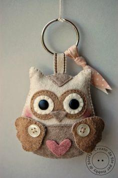 porte clé hibou
