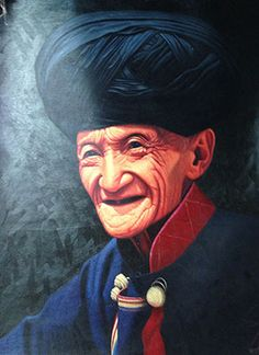 Handmade Large Chinese Minority Old Man Oil Painting : http://www.chilture.com/handmade-large-chinese-minority-old-man-oil-painting-p-667.html