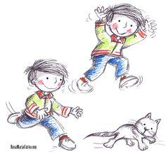 Estudi de moviments d'un nen.
