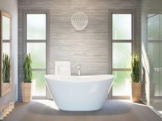 Lullaby, la piccola vasca da bagno freestanding in pietra - AQUATICA PLUMBING GROUP
