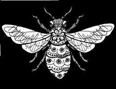 DeviantArt: More Like Honey Bee Tattoo Design by DarkCobalt86