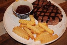 """""""steak and fries"""" made from ice cream and pound cake!"""