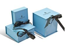 "Luxury Packaging Studio Management by The Line Studio, via Behance....very nice packaging set....in a ""new trademark Blue""...well done"