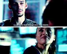 """#The100 4x01 """"Echoes"""" - Jasper and Raven"""