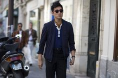 Paris Men's Street Style: All About the White Shirt  - -Wmag