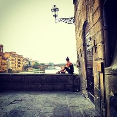 Sunday morning on Ponte Vecchio, Florence