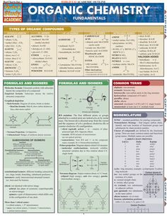 ORGANIC CHEMISTRY FUNDAMENTALS QuickStudy® $4.95 This 4-page guide consists of fundamental basic concepts of organic chemistry in an easy-to-understand format.  #Chemistry #OrganicChemistry