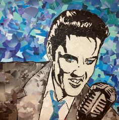 Elvis collage project Anclote High School commercial art class