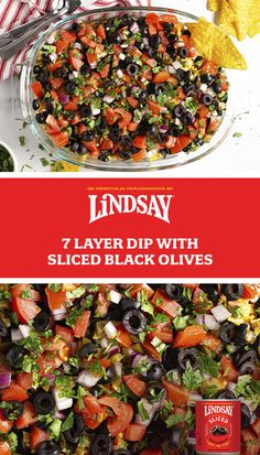 Finger Food Appetizers, Yummy Appetizers, Appetizer Recipes, Salad Recipes, Finger Foods, Mexican Food Recipes, Great Recipes, Favorite Recipes, Seven Layer Dip
