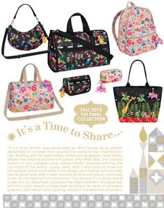 Disney It's a Small World Collection by LeSportsac